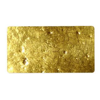 Piedra del oro etiqueta de envío