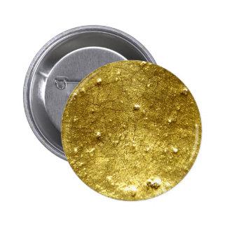 Piedra del oro pin redondo de 2 pulgadas
