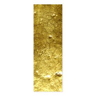 Piedra del oro tarjetas de visita mini