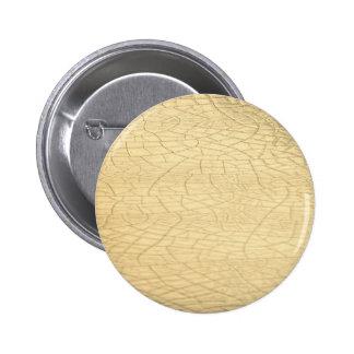 Piedra enmarañada del oro pin redondo de 2 pulgadas