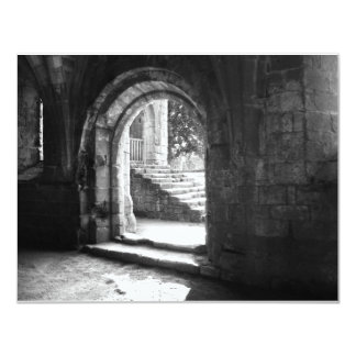 piedra-escalera-en-fuente-abadía invitación 10,8 x 13,9 cm
