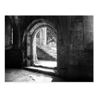 piedra-escalera-en-fuente-abadía tarjeta postal