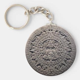 Piedra MAYA azteca del CALENDARIO - 21 de Llavero Redondo Tipo Pin