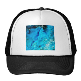 Piedra mineral azul de la aguamarina vibrante gorros