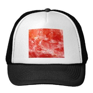 Piedra mineral roja vibrante gorros