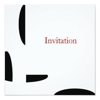 """Piedra negra blanca y rojo todos los invitación 5.25"""" x 5.25"""""""