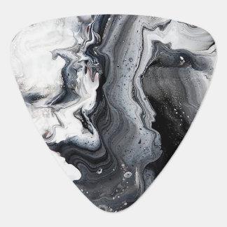 Piedra neutral gris blanca negra de mármol de la plumilla de guitarra