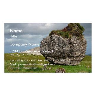 Piedra oscilante tarjeta de visita