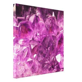 Piedra preciosa Amethyst curativa Impresiones En Lona