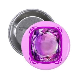 Piedra preciosa Amethyst de la lila color de rosa