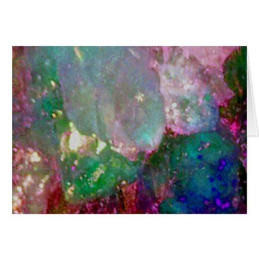 Piedra preciosa coloreada multi tarjeta