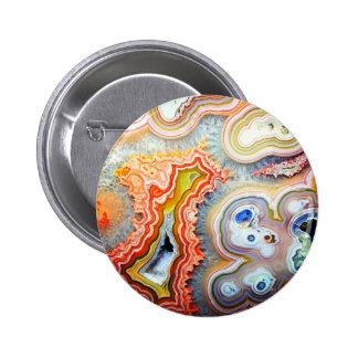 Piedra preciosa colorida llamativa de la ágata pins