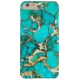 Piedra preciosa de la turquesa con la matriz de la funda de iPhone 6 plus barely there