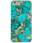Piedra preciosa de la turquesa con la matriz de la funda para iPhone 6 plus barely there