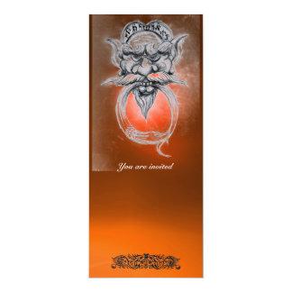 """Piedra preciosa GROTESCA del naranja de la Invitación 4"""" X 9.25"""""""