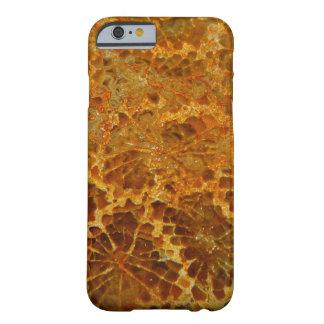 Piedra preciosa natural coralina fosilizada del funda de iPhone 6 barely there