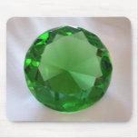 Piedra preciosa verde alfombrilla de ratón