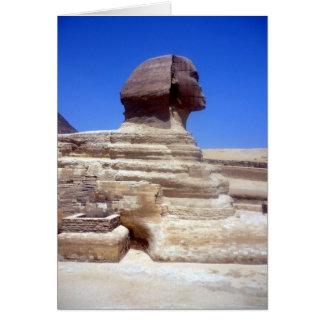 piedra principal de la esfinge tarjeta de felicitación