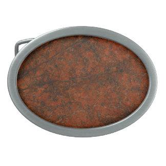 Piedra roja hebillas de cinturon