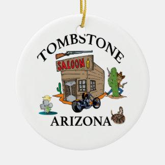 Piedra sepulcral, Arizona Adorno Navideño Redondo De Cerámica