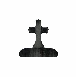 Piedra sepulcral cruzada gótica escultura fotográfica