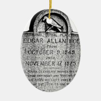 Piedra sepulcral de Edgar Allan Poe. Imágenes Adorno Navideño Ovalado De Cerámica