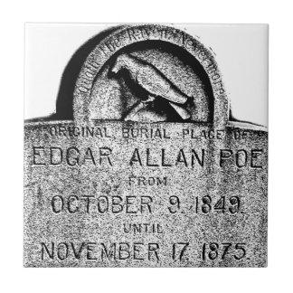 Piedra sepulcral de Edgar Allan Poe. Imágenes espe Azulejos
