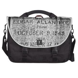 Piedra sepulcral de Edgar Allan Poe. Imágenes espe Bolsas Para Portatil