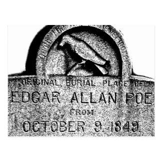 Piedra sepulcral de Edgar Allan Poe. Imágenes Postal
