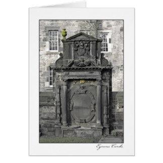 Piedra sepulcral escocesa tarjeta de felicitación