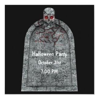 Piedra sepulcral - invitación del fiesta de