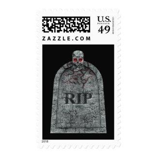 Piedra sepulcral - sellos de Halloween