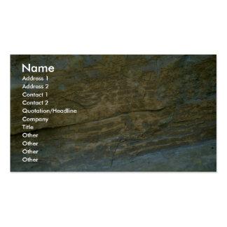 Piedra sin pulir del granito plantilla de tarjeta personal