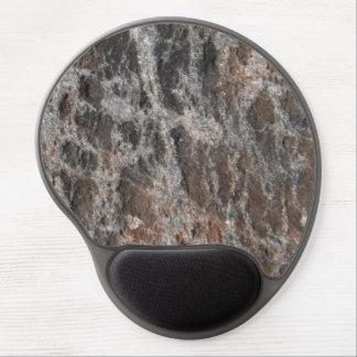 Piedra texturizada roca de la naturaleza del río alfombrillas de ratón con gel