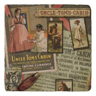 Piedra Trivet de la cabina de tío Tom del vintage Salvamanteles
