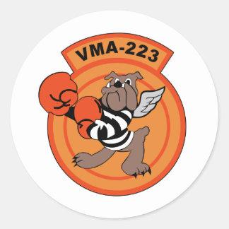 Piedra VMA-223 Pegatina Redonda
