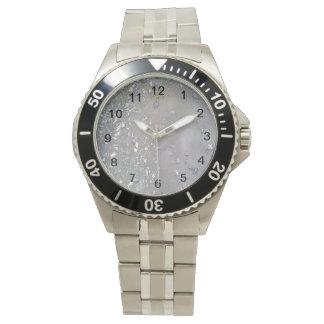 Piedra y agua reloj de mano