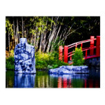 Piedra y puente japoneses postal