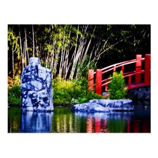 Piedra y puente japoneses postales