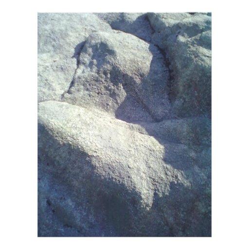 Piedra y roca flyer a todo color