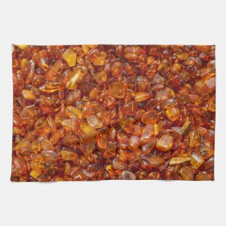 Piedras ambarinas toallas de mano