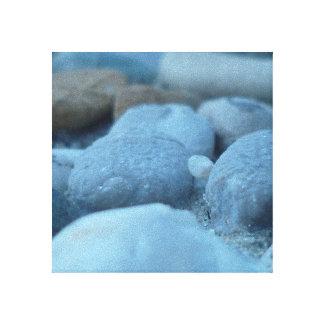 Piedras azules lona envuelta para galerías