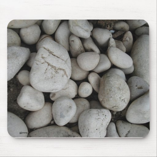 Piedras blancas alfombrillas de raton