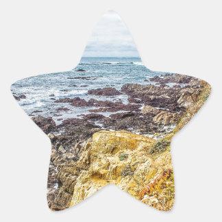 Piedras Blancas Lighthouse View Star Sticker