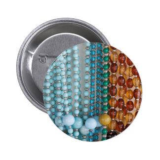 piedras coloreadas del collar pin redondo 5 cm