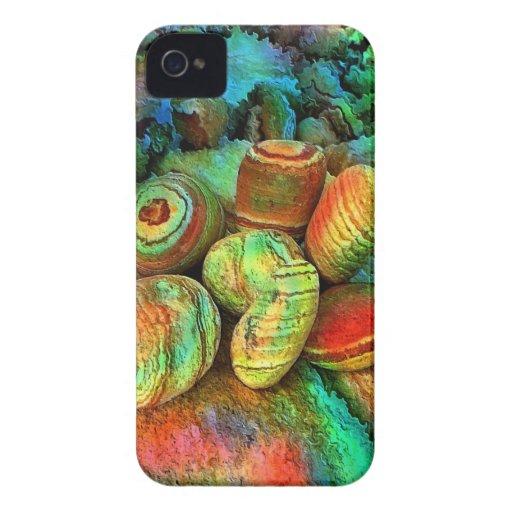 Piedras coloreadas por el rafi talby iPhone 4 carcasa