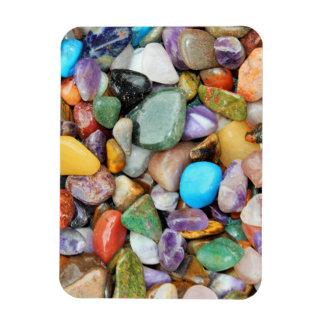 Piedras coloridas, guijarros, rocas imán rectangular