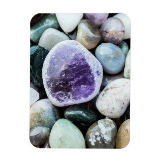 Piedras coloridas imanes de vinilo