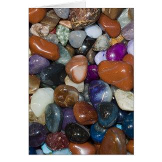 Piedras coloridas pulidas tarjeta de felicitación
