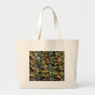 piedras con los floretes coloridos bolsa tela grande